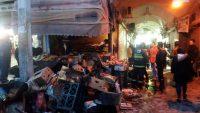 مهار آتش سوزی در بازار تاریخی ساوه