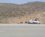 پنج مصدوم و یک فوتی بر اثر واژگونی سواری پراید