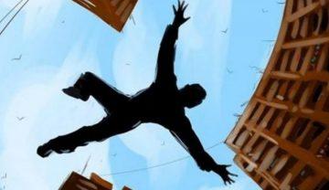 سارق نگون بخت به هنگام فرار از طبقه چهارم سقوط کرد و جان باخت