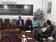 مدیر عامل شرکت نورد و پروفیل با امام جمعه ساوه دیدار و گفتگو کرد