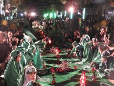 گزارش تصویری – برگزاری سفره حضرت رقیه(س) در ساوه