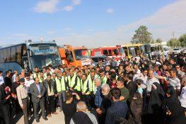 گزارش تصویری – بدرقه کاروان شهرداری ساوه جهت خدمت به زائرین اربعین حسینی(ع)