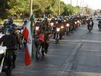 برگزاری رژه موتوری به مناسبت هفته دفاع مقدس در ساوه